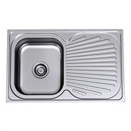Clark Single Left Hand Bowl Vital Sink With 1 Tap Hole
