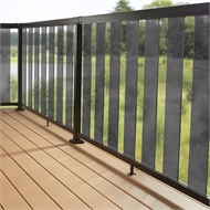 Peak Balustrade Black Sectional Glass Kit - Tinted