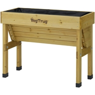 Vegtrug 1m Small Wall Hugger Raised Garden Bed - Natural