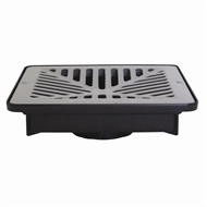 Everhard EasyDRAIN Shallow Flo-way Pit with Grey Polymer Grate