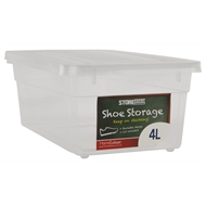 HomeLeisure 4L Clear StoreMax Shoe Box