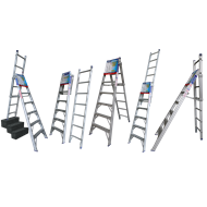 Indalex 2.4m - 4.1m 150kg Aluminium 5 Way Combination Ladder