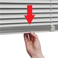 ClearVIEW 25mm Aluminium Slat Venetian - 1800mm x 1500mm White