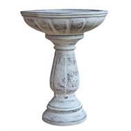 Northcote Pottery 37 x 47cm Cafestyle Villa Bird Bath - Antique White