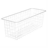 Flexi Storage 205mm White 2 Runner Half Width Mesh Basket