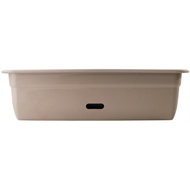 HomeLeisure 600mm Taupe WaterSaver Contemporary Rectangular Planter