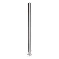 Architects Choice 121 x 121 x 1315mm Glass Fence Flange Corner Post Silver