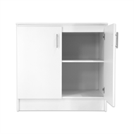 Bedford 900mm White 2 Door High Moisture Resistant Base Slimline Cabinet