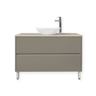 Forme 1200mm Crust Quay Organic Floor Vanity With Colourstone Benchtop