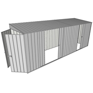 Build-a-Shed 1.5 x 5.2 x 2m Double and Single Sliding Side Door Skillion Shed - Zinc