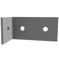 Dunnings 65 x 130 x 65 x 5mm M12 Galvanised Angle Bracket