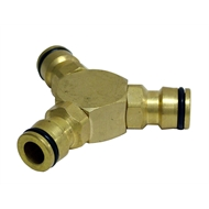 Holman 12mm 3-Way Coupling Brass Hose Fitting Connector