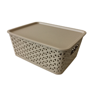 All Set Rattan Style Storage Container - 3.8L