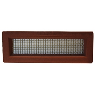 Aleta Industries 455 x 160mm Red Wall Vent