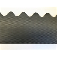 Gutterguard Gumleaf 2mm Hole size for Corrugated Roof Woodland Grey 1200mm Long