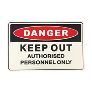 Brutus 450 x 300mm Keep Out Safety Sign