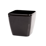 Eden 18cm Premium Round Black Self Watering Plastic Pot