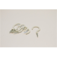 Windoware 37mm White Curtain Rod Cup Hooks – 5 Pack