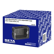 DETA Wall Mounting Box With Adjustable Lugs - 6 Pack