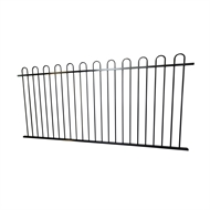 Protector Aluminium 2450 x 1200mm Loop Top Ulti-M8 Fence Panel - Black