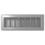 Accord 10 x 40cm Satin Chrome Floor Vent