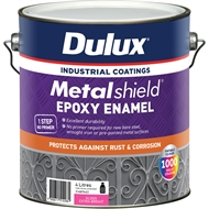 Dulux Metalshield 4L Extra Bright Base Topcoat Epoxy Enamel Paint