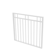 Protector Aluminium 975 x 900mm Double Top Rail 2 Up 2 Down Garden Gate - To Suit Gudgeon Hinges - Pearl White