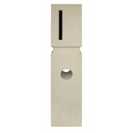 Elite Letterboxes Vermont Cream Pillar Letterbox