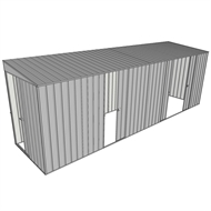 Build-a-Shed 1.5 x 6 x 2m Single and Double Sliding Side Door Skillion Shed - Zinc