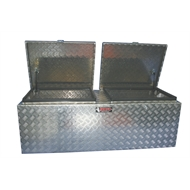 Rhino 1415 x 520 x 480mm Aluminium Double Open Checkerplate Tool Box