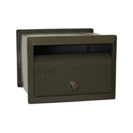 Velox 230mm Woodland Grey Front Open Letterbox with Sleeve