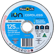 Flexovit 125mm Ion Cordless Reinforced Cut Off Wheel