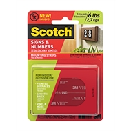 Scotch 2.5 x 7.6cm Sign And Numbers Double Sided Mounting Strips