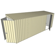 Build-a-Shed 1.5 x 5.2 x 2m Single Hinged Side Door Skillion Shed - Cream
