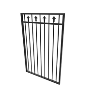 Protector Aluminium 975 x 1200mm Custom Double Top Rail With Spears Pool Gate