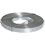 Abey 25mm x 0.6mm x 6m Punched Metal Strapping