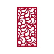 Protector Aluminium 900 x 1200mm ACP Profile 17 Decorative Panel Unframed - Light Red
