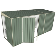 Build-a-Shed 1.5 x 4.5 x 2m Sliding Door Tunnel Shed with Side Doors - Green