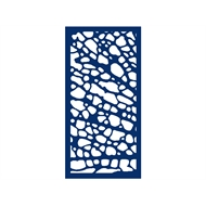 Protector Aluminium 900 x 1800mm ACP Profile 1 Decorative Panel Unframed - Dark Blue