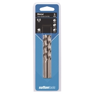 Sutton Tools 6.0mm Metric HSS Jobber Drill Bit - 5 Pack