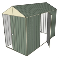 Build-a-Shed 1.5 x 3.0 x 2.3m Front Gable Dual Door Narrow Shed - Green