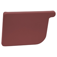 COLORBOND 115mm LH Quad Gutter Stop End - Manor Red