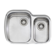 Oliveri 820 x 500mm 1.5 Bowl Monet Undermount Sink