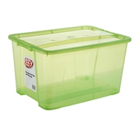 Ezy Storage 92L Green Storage Tub