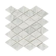 Decor8 300 x 300 x 8mm Diamond Carrara Marble Mosaic Tiles