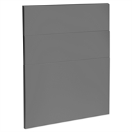 Kaboodle 600mm Smoked Grey Modern 3 Drawer Panels