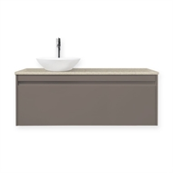 Forme 1200mm Colourstone / Iron Ore Quay Organic Wall Hung Vanity