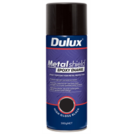 Dulux Metalshield 300g High Gloss Black Epoxy Enamel Spray Paint