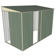 Build-a-Shed 1.5 x 3 x 2m Sliding Door Tunnel Shed with Side Door - Green