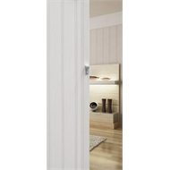 Pillar Products 15 x 203cm White Oak PVC San Marino Concertina Door Panel